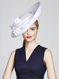 Juliette Botterill Millinery | Bow Upturn | White and Wide Brim Hats | LOVEHATS.COM