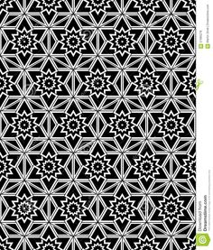 Black And White Seamless Pattern Sacred Geometry Stock Vector ...
