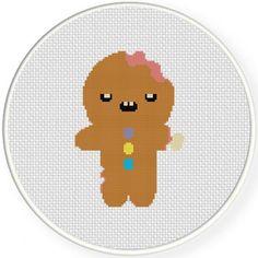 Gingerbread Zombie Handmade Unframed Cross by CustomCraftJewelry
