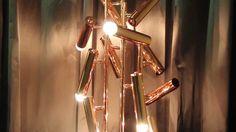 Contemporary Lighting, @BRABBU, Floor Lamp, nature inspired lamp, copper, Maison & Objet Paris 2014