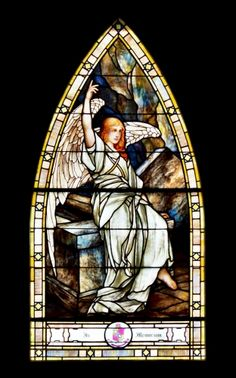 Angel at Empty Tomb by Louis Comfort Tiffany, St. Paul's Episcopal Church, Franklin, TN