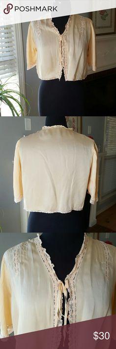 Selling this Vintage Satin Bed Jacket on Poshmark! My username is: bettyecloset. #shopmycloset #poshmark #fashion #shopping #style #forsale #Other