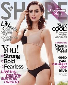 Lily Collins for SHAPE Magazine (2017).