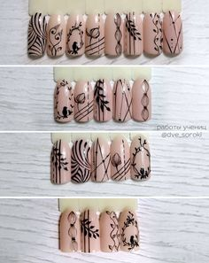 Installation of acrylic or gel nails - My Nails Nail Art Hacks, Gel Nail Art, Nail Art Diy, Acrylic Nails, Blue Nails, My Nails, Nail Drawing, Lines On Nails, Painted Nail Art
