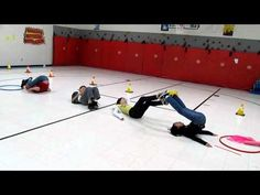 leg lift relay - different objects Gym Games For Kids, Pe Games, Yoga For Kids, Exercise For Kids, Team Bonding Activities, Pe Activities, Physical Activities, Movement Activities, Elementary Physical Education