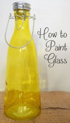 How To Paint Glass...http://homestead-and-survival.com/how-to-paint-glass/