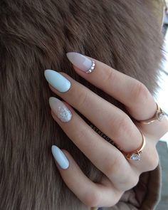 lovely winter nails design ideas you should copy 14 ~ thereds.me lovely winter nails design ideas you should copy 14 ~ thereds.me,NAILS lovely winter nails design ideas you should copy. Solid Color Nails, Nail Colors, Almond Nails Designs, Nail Designs, Wedding Nail Polish, Holographic Nails, Gradient Nails, Kylie Jenner Nails, Almond Acrylic Nails