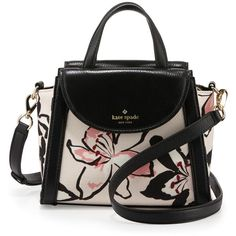 kate spade new york cobble hill adrien small floral satchel bag (10,220 THB) ❤ liked on Polyvore featuring bags, handbags, antilles bubbles, handle satchel, satchel style handbag, floral print handbags, kate spade and floral satchel