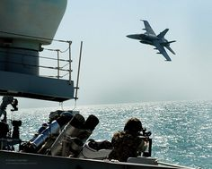 A Kuwaiti F18 Hornet Conducts a Simulated Air Attack on HMS St Albans During an Exercise in the Middle East | Flickr - Photo Sharing!