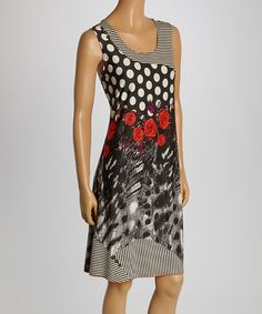 Love this Black & White Abstract Sleeveless Dress - Women & Plus by Tango Mango on #zulily! #zulilyfinds