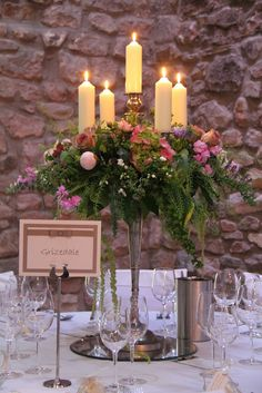 Flower Design Events: Baroque style candelabra