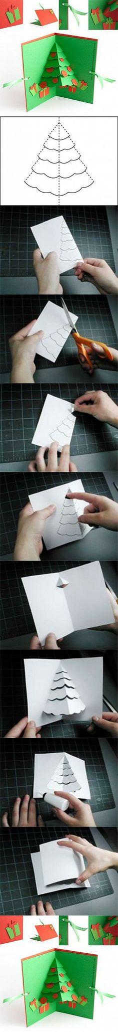 DIY Christmas Tree Pop Up Card DIY Projects | UsefulDIY.com