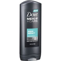 Dove Men+Care Body and Face Wash Aqua Impact Ocean Minerals - Skincare Face Wash, Body Wash, Dove Go Fresh, Dove Men Care, Cleansing Gel, How To Get Rid Of Acne, Beauty Bar, Natural Skin, Minerals