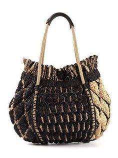Women's Designer Handbags on Sale - Farfetch .crochet inspiration ONLY. Bag Crochet, Crochet Handbags, Crochet Purses, Designer Handbags On Sale, Boho Bags, Summer Bags, Knitted Bags, Handmade Bags, Purses And Bags