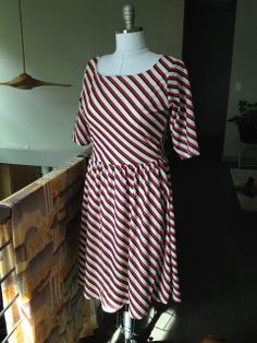 Striped Moneta by Gretchen Consider this pattern for the green floral knit from Mood