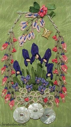 silk ribbon embroidery panel 2