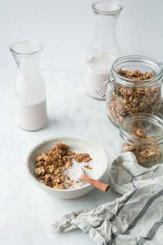 Clumpy Coconut Butter Granola (Vegan + Gluten-Free) by The Green Life