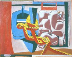 Ле Корбюзье, Картон для гобелена 1936, картон, масло