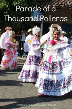 Thousand Polleras Parade, Las Tablas, Panama