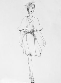 Punctured By Nature              S/S             2014 Fashion Illustrations, Fashion Sketches, Gallery, Drawings, Nature, Model, Inspiration, Clothes, Design
