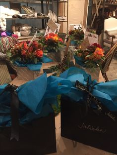 Floral arranging class at the Juliska flagship store
