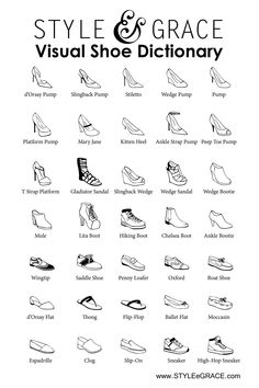 Visual Shoe Dictionary from Style e Grace