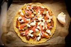 Gluten free pizza - a light and delicious chickpea base