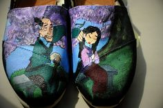 Yessss.! I love these Mulan shoes.! One of my favorite scenes in the movie.! #Milan #Shoes #Disney