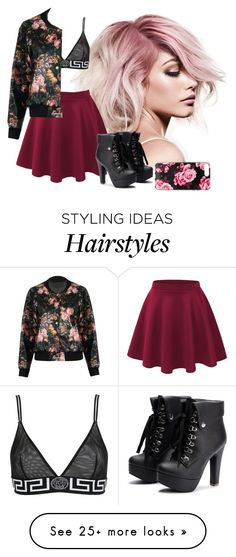 """flowerin'"" by oriza-int on Polyvore featuring Versace and Kate Spade"