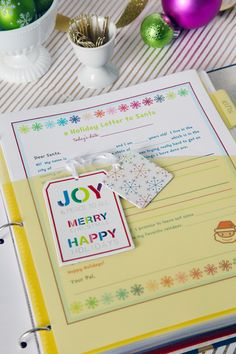 Free Holiday Organizing Printables via IHeart Organizing