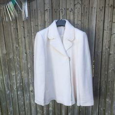 Zara Coat brand new! Very nice coat, ivory color and size Large. Only used like 3 time, I'm moving to Miami I don't gonna used this there and i need the money back. Zara Jackets & Coats