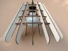 Plywood Lamp Shade Flat Pack by InvenioCrafts on Etsy, €45.00