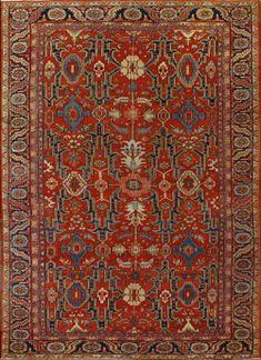 Antique Heriz Rug - 251007 - First Rugs Deep Carpet Cleaning, How To Clean Carpet, Persian Carpet, Persian Rug, Turkish Rugs, Dark Carpet, Shaw Carpet, Carpet Stairs, Carpet Runner