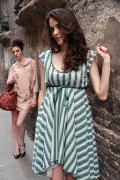 photo:Francesca di Monte stylist:Simona Gambardella mua+hair stylist:Basia Olejniczak modella:Daniella Ganzella modella:Serena Bottazzi location:Matta & Goldoni