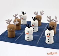 DIY Tic-Tac-Toe - Family fun crafts to inspire play this Christmas | MollyMoo: