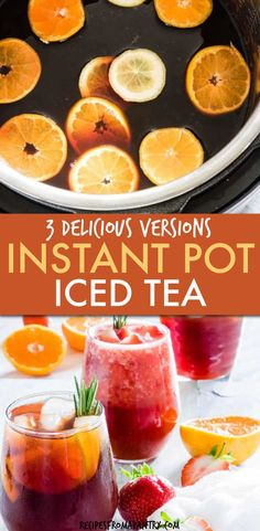 Love easy Instant Pot Iced Tea Recipes? We show you how to make Pressure Cooker Iced Tea with a step-by-step image tutorial using 3 insanely refreshing Homemade Iced Tea recipes including strawberry iced tea!! This Sweet tea is a great crowd pleasing summer drink and for cooling down. How To Make Iced Tea in the Instant Pot | Instant Pot Drinks | Instant Pot Beverages | #instantpoticedtea #instantpottea #iceadtea #strawberryicedtea #instantpotrecipes #homemadeicedtea #sweettea #icedtea… Supper Recipes, Lunch Recipes, Breakfast Recipes, Dessert Recipes, Homemade Iced Tea, Making Iced Tea, Iced Tea Recipes, Recipes For Beginners, Sweet Tea