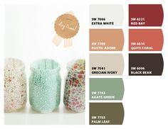 Color palette - Sherwin William Chip It!