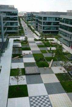 A Patchwork in The Park of a large office complex in Prague, Czech Republic by Cigler Marani Architects