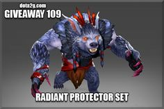 Giveaway 109 - Radiant Protector Set Dota 2, 2 Set, Games To Play, Giveaway, Things To Do, Projects To Try, Places To Visit, Lion Sculpture, Statue