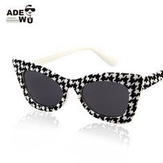 890f4188b8 Hot Fashion Retro Cat Eye Sunglasses Houndstooth Women New UV400 100% Sun Glasses  Eyewear oculos de sol feminino Free Shipping-in Sunglasses from Women s ...