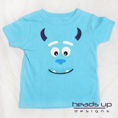 This adorable Sulley inspired shirt is perfect for your little one. Use it as a simple costume or a way to to wear on any day! It also makes a great