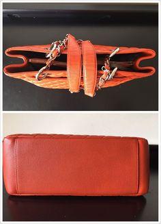 cb01da595471c6 Chanel GST Grand Shopper Tote Orange Red Caviar Leather Silver Hardware  $1800.0