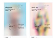 George Khut Interactive Works by Stuart Hall, via Behance Graphic Design Posters, Graphic Design Typography, Graphic Design Illustration, Graphic Design Inspiration, Branding Design, Gfx Design, Layout Design, Book Design, Cover Design