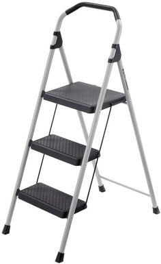 Gorilla 4 Ft 3-Step Lightweight Folding Steel Step Stool Ladder 225 Lb. Capacity #TricamIndustries