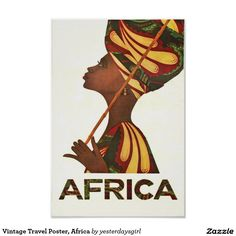 Africa Art Vintage Travel Poster Print Home African Wall Decor Poster Art, Retro Poster, Kunst Poster, Poster Prints, Art Print, Travel Ads, Airline Travel, Travel Photos, Vintage Advertisements
