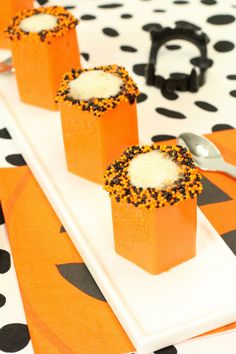 Halloween Pumpkin Cocktail Shot Recipe made with Sweet'N Low®