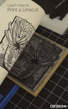 It's time to print your linocut! Learn how to register your paper on your inked block, and how to pull a print by hand, and by using a tabletop etching press.