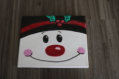 Snowman canvas, holiday canvas, snowman painting Source by mchagermanmch - Christmas Paintings On Canvas, Holiday Canvas, Christmas Canvas, Christmas Cross, Kids Christmas, Christmas Signs, Xmas, Easy Canvas Painting, Painting For Kids