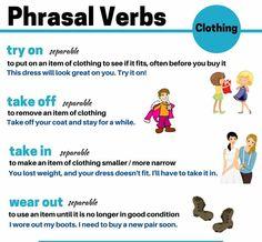 phrasal verbs american english at state English Verbs, English Phrases, Learn English Words, English Lessons, English Grammar, English Tips, Grammar And Vocabulary, English Vocabulary Words, Grammar Lessons