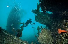 Wreck Dive at Narvik, Norway - Check out wreck of a German fighter plane in Lake Hartvikvannet.